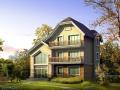 户型为二层半独栋别墅,砌体结构别墅建筑文本(包含CAD+效果图)