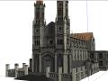 天主教堂SU模型