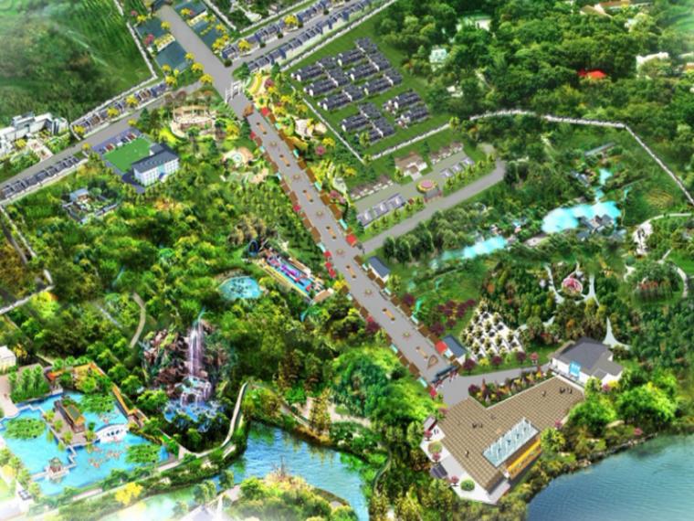 [河北]临城县西竖特色小镇规划方案文本(自然,生态)