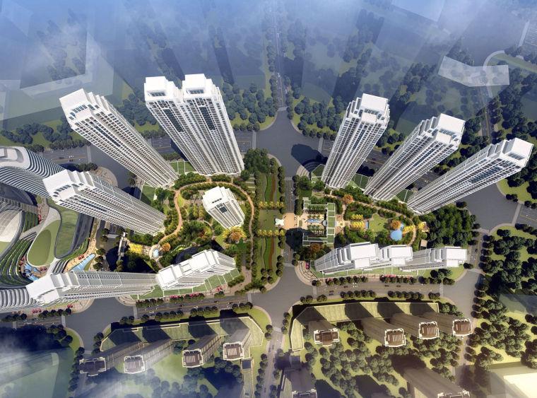 [浙江]超高层居住区建筑设计方案文本