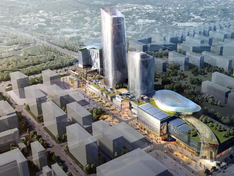 [深圳]贝诺上步区城市商业综合体建筑方案文本(商业、办公、休闲娱乐)