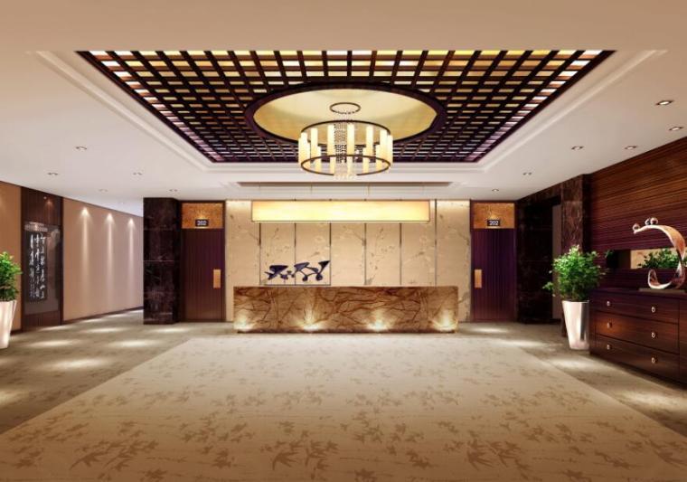 高档休闲温泉度假酒店设计施工图 含效果图 宾馆酒店装修 筑龙室内设