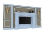 欧式装饰墙3D模型下载