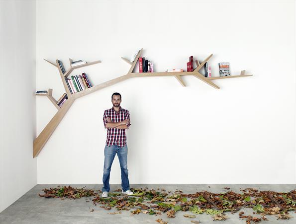 创意家具:树枝书架