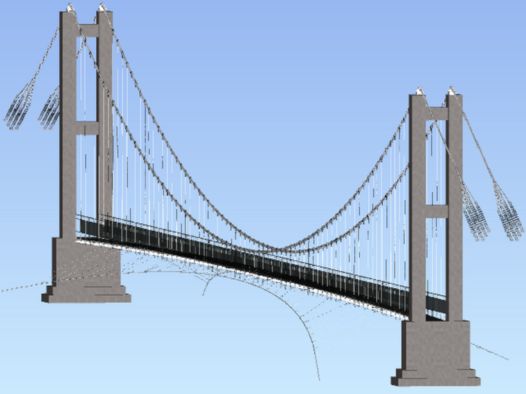 人行悬索桥BIM系统进展报告