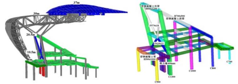 杭州奥体博览城网球中心整体结构设计研究综述_3