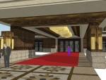 欧式风格会馆模型设计