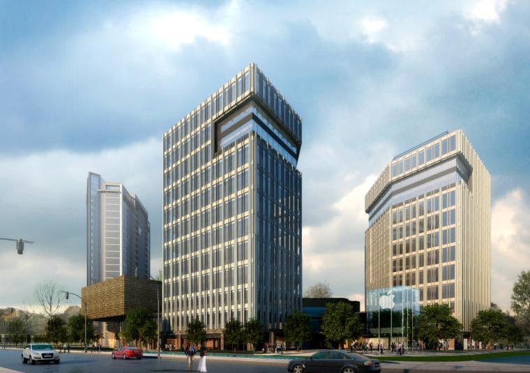 [浙江]高层现代经典风格商业及金融办公中心建筑设计方案文本_3