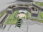 某中学图书馆建筑设计SU模型