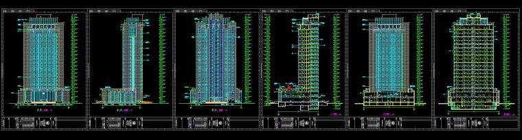 [山东]某地税局办公楼施工图设计(14个CAD+80张图)_1