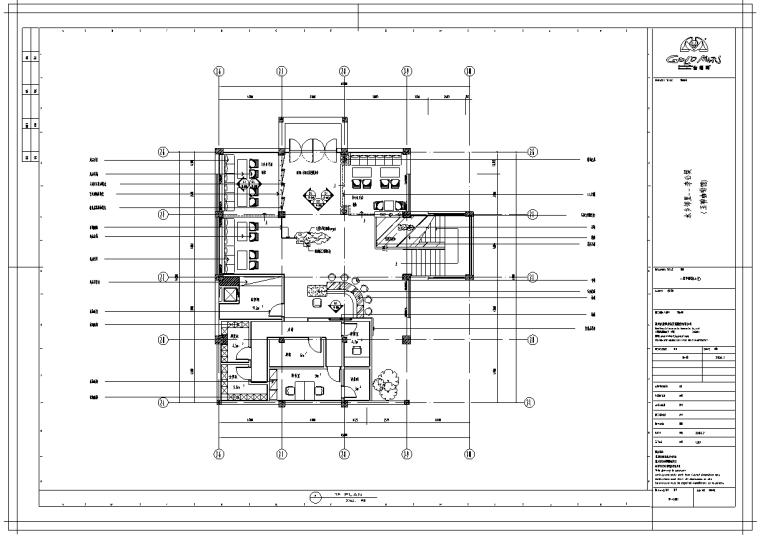 玉禅咖啡馆室内设计施工图(含20张图)