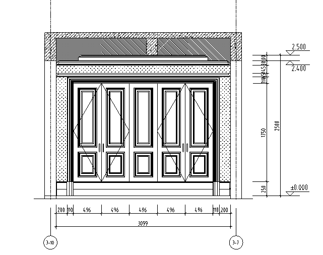 【四川】3套现代混合风格样板间设计案例_2