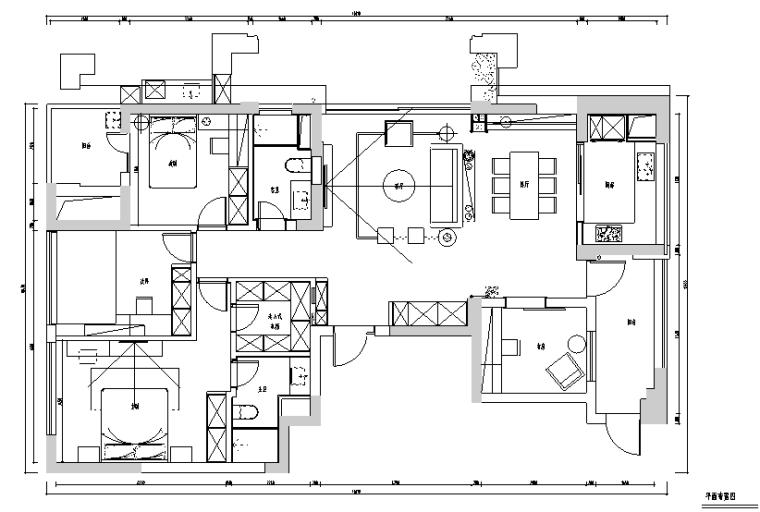 [浙江]锦和苑现代风格住宅装修设计施工图(附效果图)