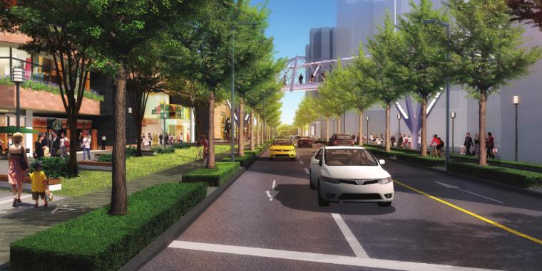 [上海]瑞虹路街道景观方案设计(PDF+16页)-效果图