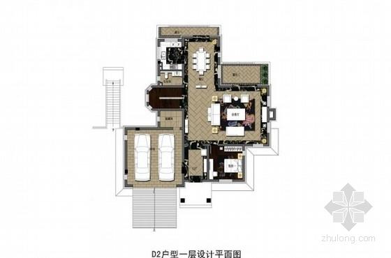 [沈阳]典雅新中式风格双层别墅深化设计方案