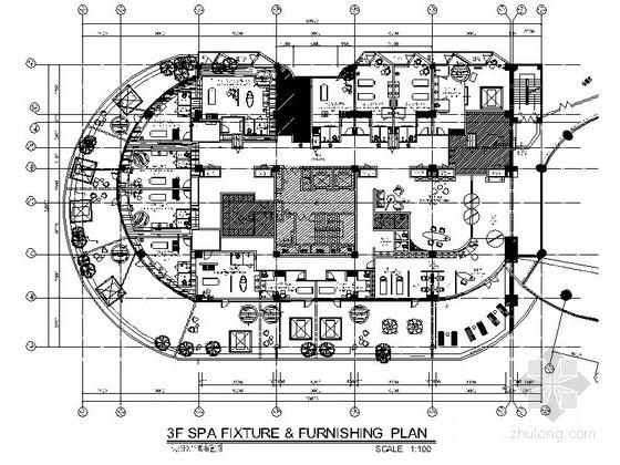 [福建]豪华游艇会所SPA装修设计施工图