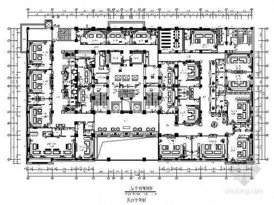 某酒店欧式古典豪华商务会所室内装修设计施工图(含效果)