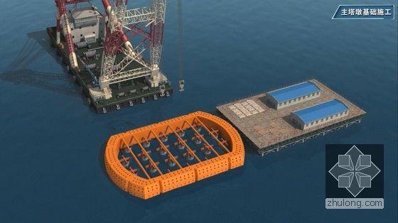 世界级跨海大桥工程标准化施工及管理三维动画演示(20分钟画面高清)-主塔墩基础施工