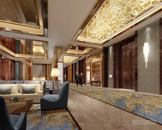 [福建]豪华五星级现代酒店室内设计成果汇报方案宴会大包房效果图