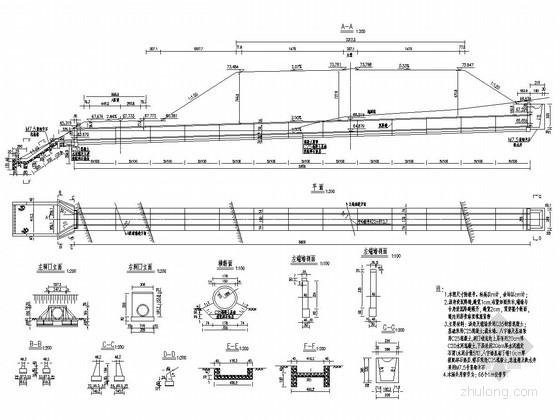 [广东]高速公路涵洞工程施工图设计14张(圆管涵)