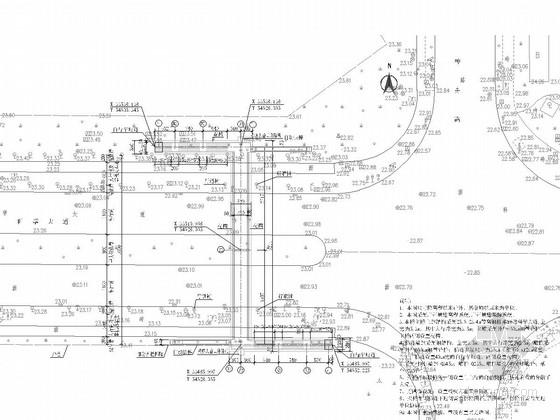 [广东]下承式钢桁架人行天桥施工图44张(天梯 花槽设计)