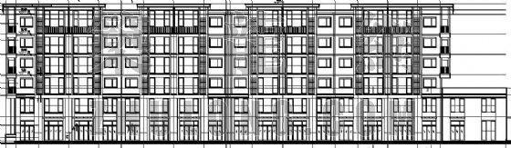 某底层带商铺住宅楼建筑施工图纸