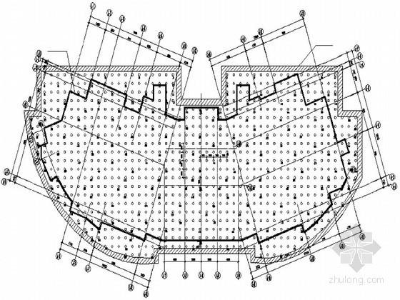[北京]使馆公寓楼工程CFG复合桩基础平面设计图