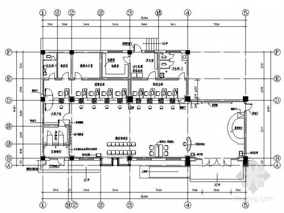 [安徽]某大型办公服务大厅室内设计CAD施工图
