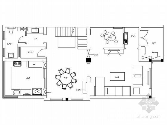 精品典雅新中式风格三层别墅样板间CAD装修施工图(含效果)