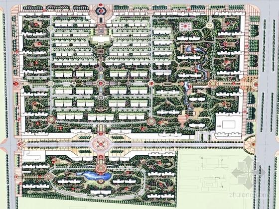 [山东]国际都市静雅住宅区规划设计方案