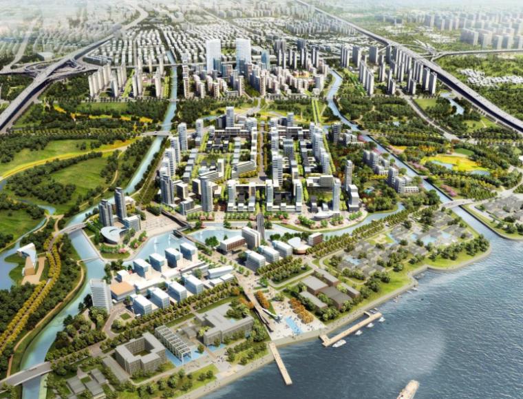 [上海]三林滨江南片区城市规划设计方案文本-AECOM(城市规划景观分析)