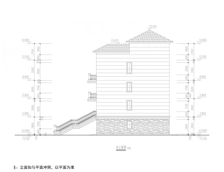 江西某经济型别墅全套施工图(建筑结构水电)_31