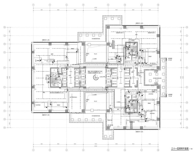 深圳超高层办公楼及配套裙房电气施工图