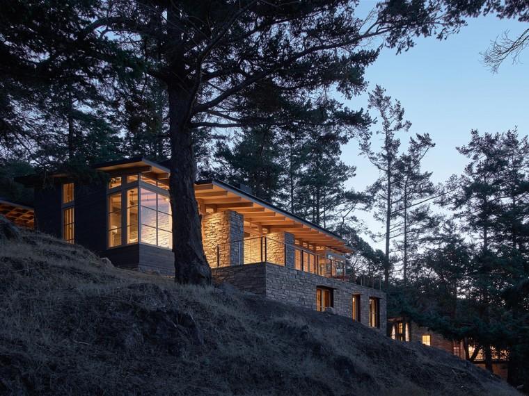美国山坡上的私人住宅