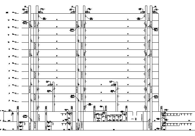 广东综合楼空调通风设计施工图(通风、防排烟)