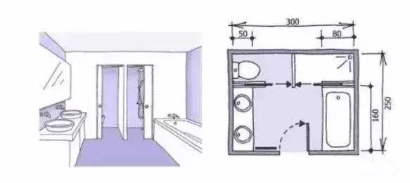 卫生间装修尺寸,精细到每一毫米的设计!_17
