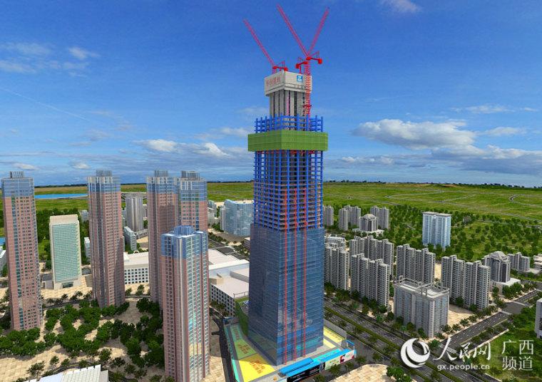 """""""广西第一高楼""""以BIM技术推动建筑施工信息化变革"""