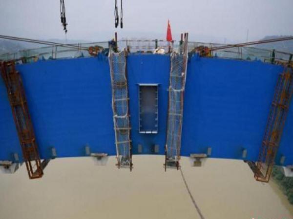"""世界最大跨度钢箱拱桥""""成贵高铁金沙江公铁两用大桥""""主拱合龙_2"""