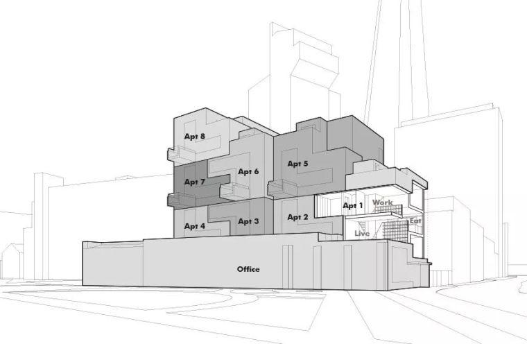建筑师独立开发的公寓楼,真是好房子!_7