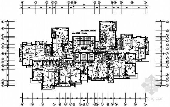 [天津]32层小区住宅楼电气施工图纸