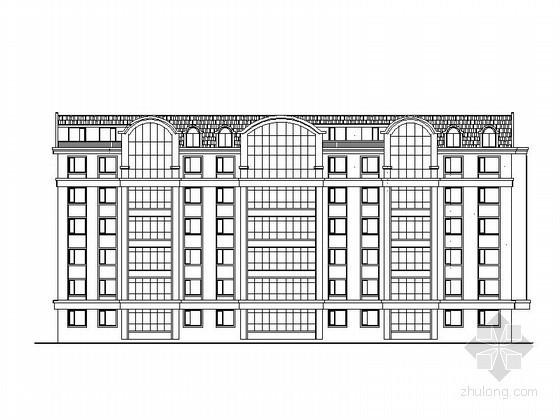[黑龙江]某六层塔式住宅楼建筑方案图(6号)