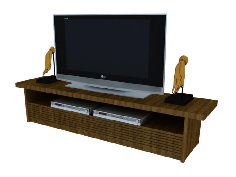 常用电视柜3D模型下载