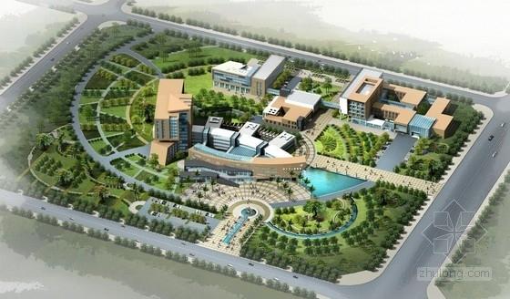 [上海]高低错落折线型综合性医院建筑设计方案文本