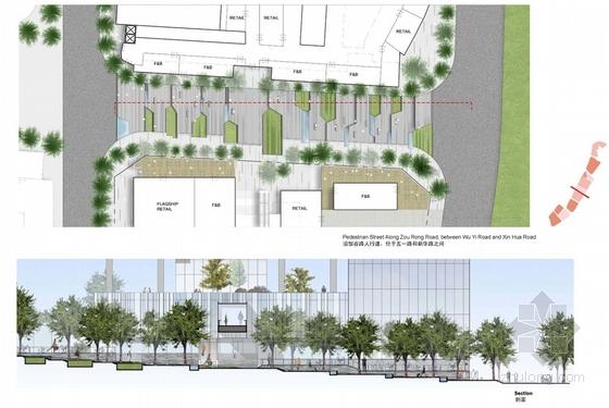 现代风格高层商业街设计平面图图片