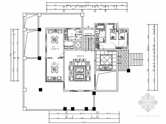 [海南]某欧式时尚三层别墅室内装修施工图
