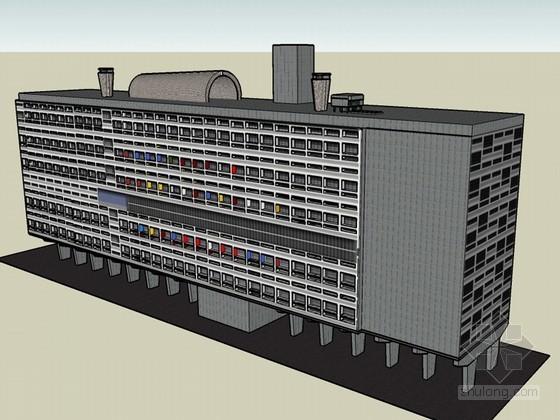多层公寓SketchUp模型下载