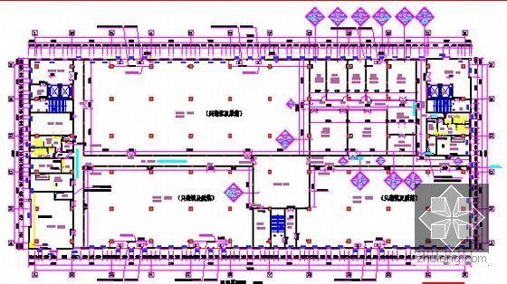 [广东]2015年科技园厂房楼装修工程预算书(附施工图纸)-三层平面图