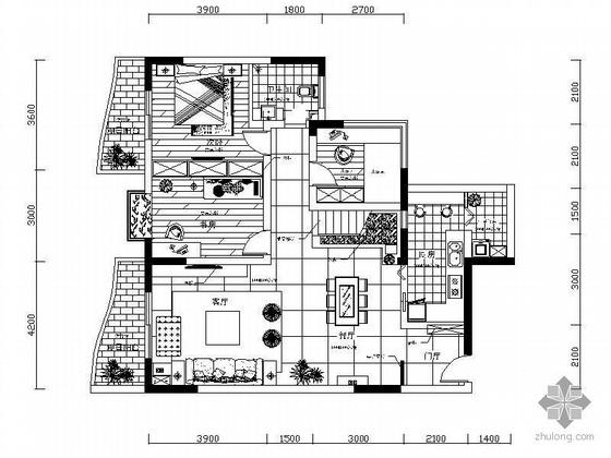 [四川]某复式楼装修图