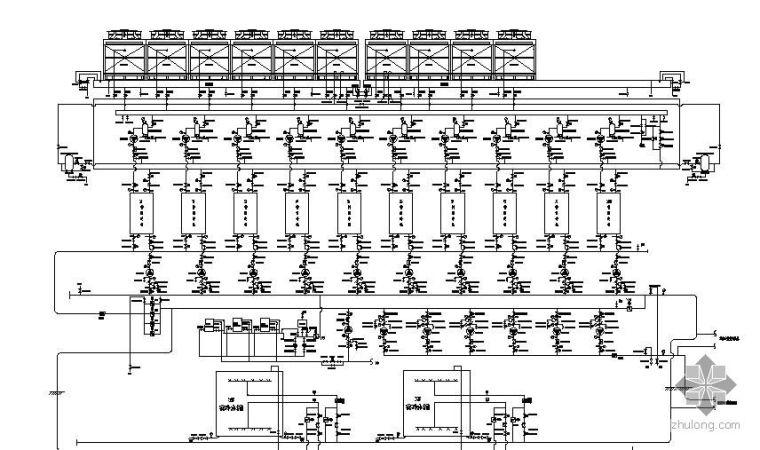 上海某能源中心冷冻机房系统图