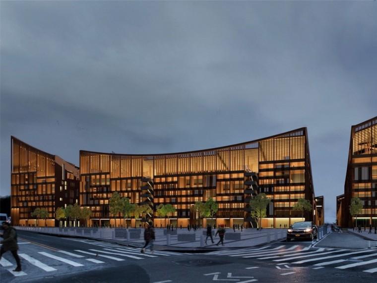 美国创新的木结构住宅和体育场综合体